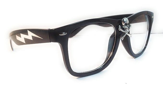 e74269f9bd Amazon.com  Wild Thing Rick Vaughn Skull Glasses  Clothing