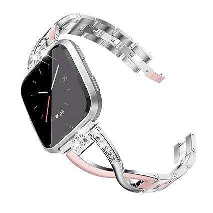 Amazon.com: TOYOUTHS Compatible Fitbit Versa bandas para ...