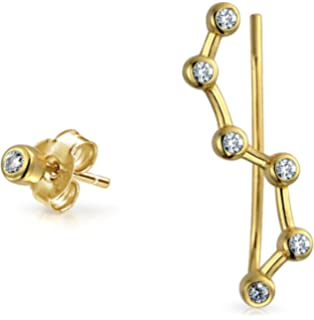 Bling Jewelry 925 Sterling Silver Constellation Ear Pin and Stud Earring cHVTxmoCy5