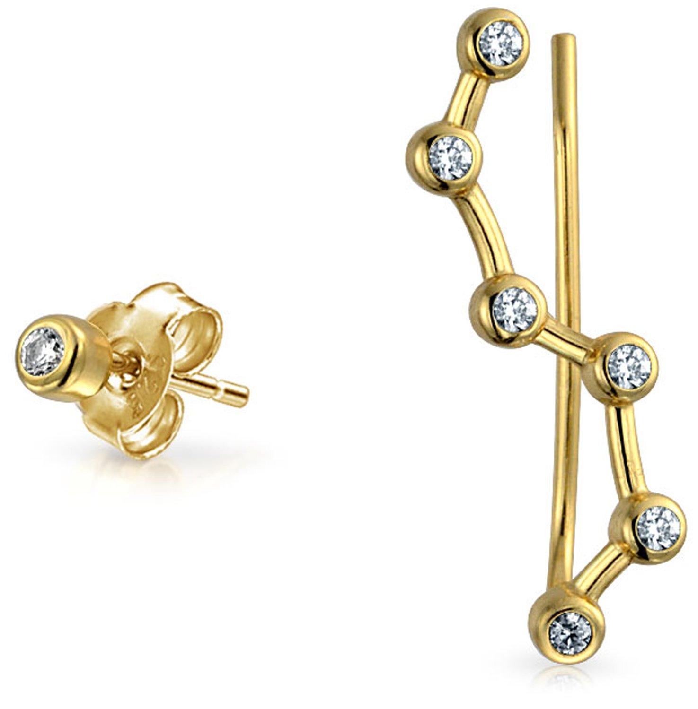 Bling Jewelry 925 Silver CZ Constellation Ear Pin Stud Earring Set