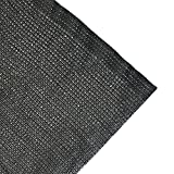 Agfabric 60% Sunblock Shade Cloth 6.5x30ft Black -Cut Edge with Free clips for Plant Cover Greenhouse,Barn,Kennel, Pool, Pergola or Carport