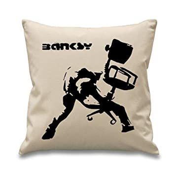 Superb Amazon Com Banksy Office Chair 18 X 18 Filled Sofa Throw Ncnpc Chair Design For Home Ncnpcorg