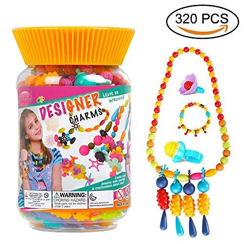 ZhiMingXing Kids Girls Pop Beads DIY Snap Play Making Kit Ed