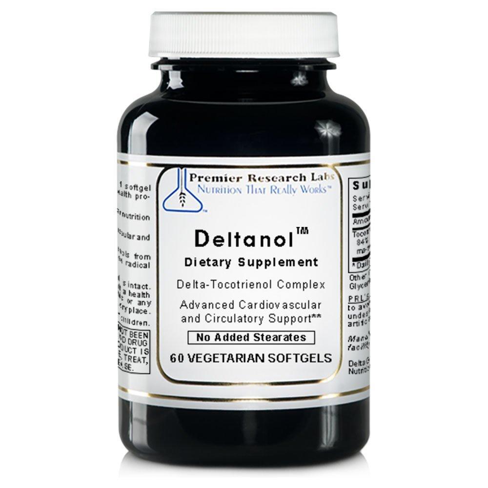 Deltanol TM, 120 Caps / 2 Bottles - Vitamin E Delta-Tocotrienol Complex by Premier Quantum Research Labs
