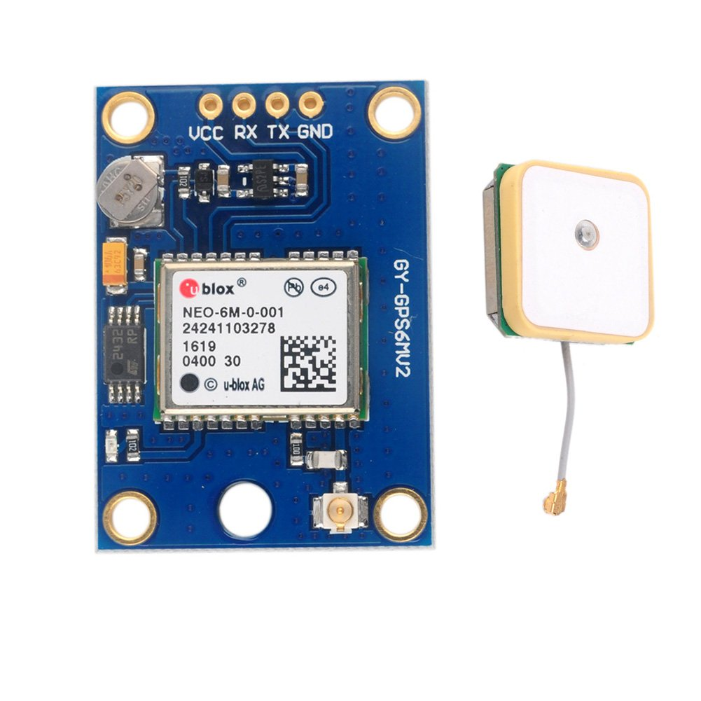 Geekstory Original GY-GPS6MV2 NEO-6M GPS Module + GPS Ceramic Antenna for Arduino Drone Flight Controller