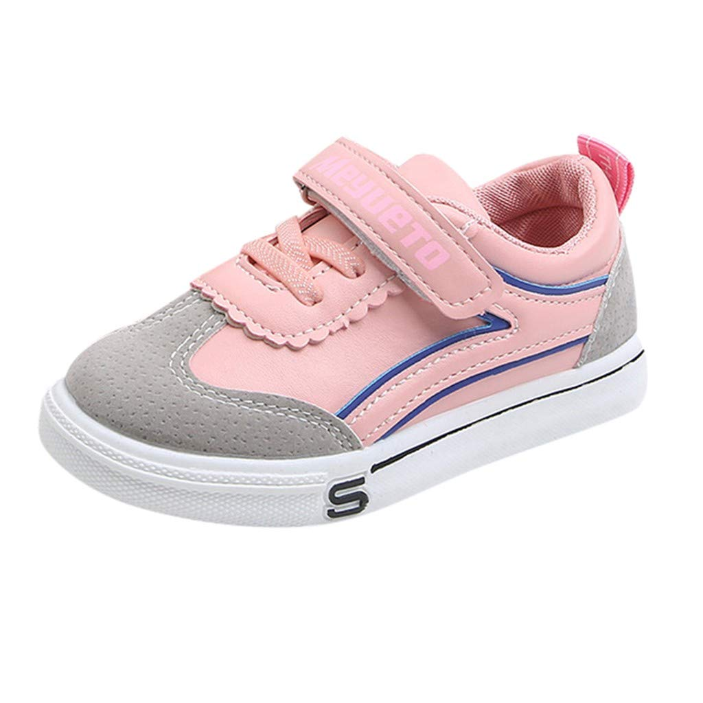 Kimanli Children Kids Boys Girls Fashion Mixed Color Flat Sport Casual Shoes Sneakers