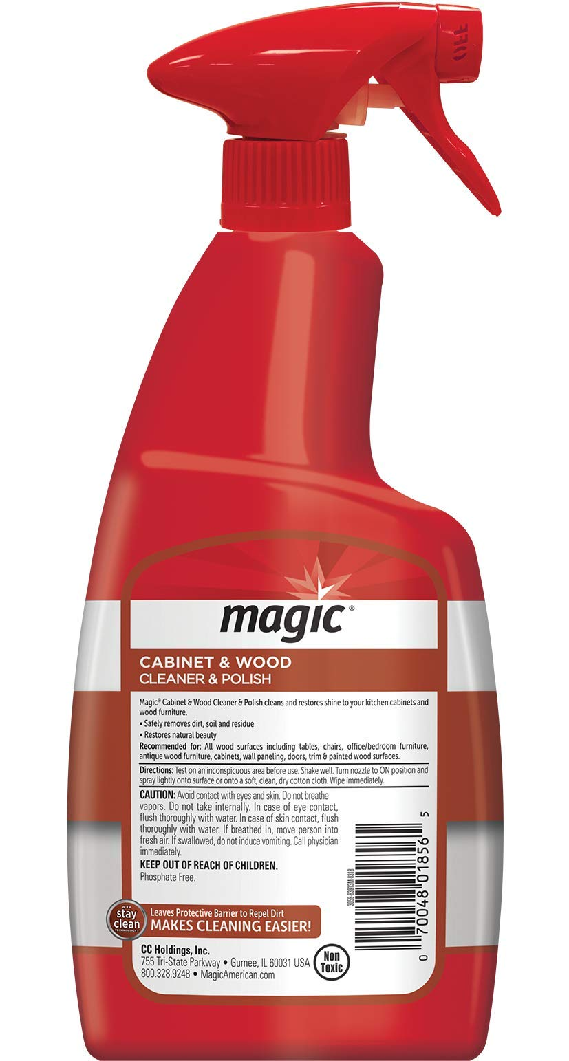 Magic Wood Furniture Cleaner and Polish - 24 Ounce Spray (2 Pack) - Restore Wood Doors Tables Chairs and Cabinets by Magic (Image #2)