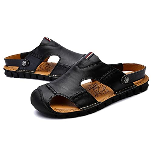 36dc6b0d72781d GAOLIXIA Men's Leather Breathable Sandals Summer Hollow Slippers  Comfortable Outdoor Casual Shoes Fashion Durable Beach Shoes