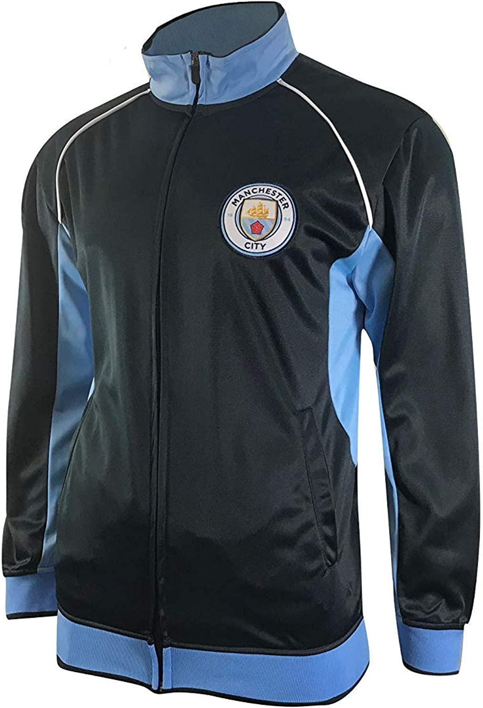 Manchester City FC Official Soccer Gift Boys Fleece Zip Hoody