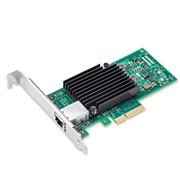 10Gtek® 10GbE PCIE Tarjeta de Red para Intel X550-T1- ELX550AT Chip, Single RJ45 Puerto, 10Gbit PCI Express x4 LAN Adapter, 10Gb Nic para Windows ...