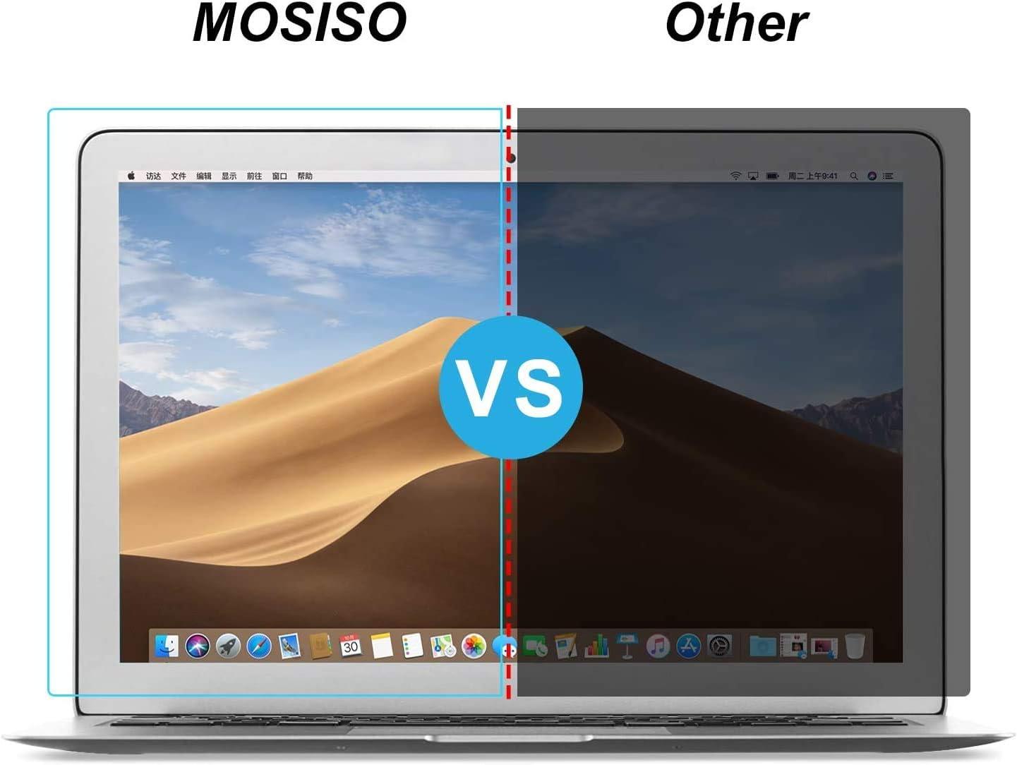 MOSISO 2 Pack MacBook Air 13 Protecteur d/écran Matte Laptop Bleu Lumi/ère Blocage Bloquer UV Protection Yeux Filtre Film Compatible avec MacBook Air 13 Pouces 2010-2017 Version A1466 // A1369 Clair