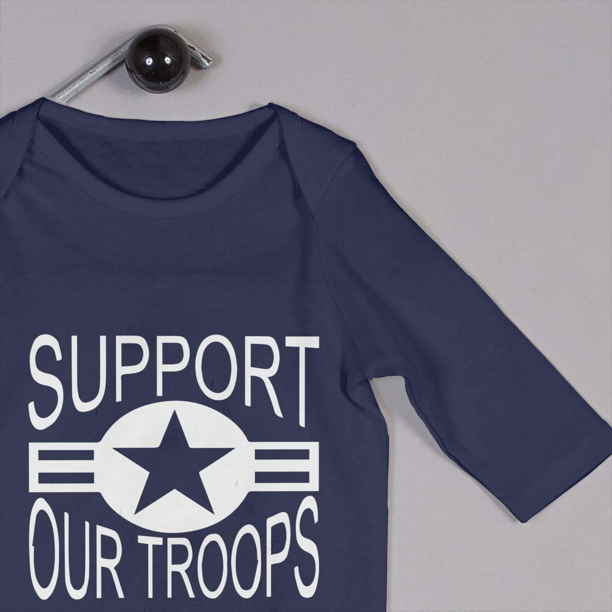 Newborn Round Collar Support Our Troops 2 Long Sleeve Romper Jumpsuit 100/% Cotton Suit 6-24 Months