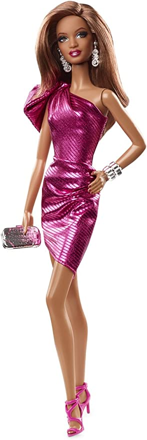 Barbie The Look City Shine Purple Dress Outfit Fit Model Muse