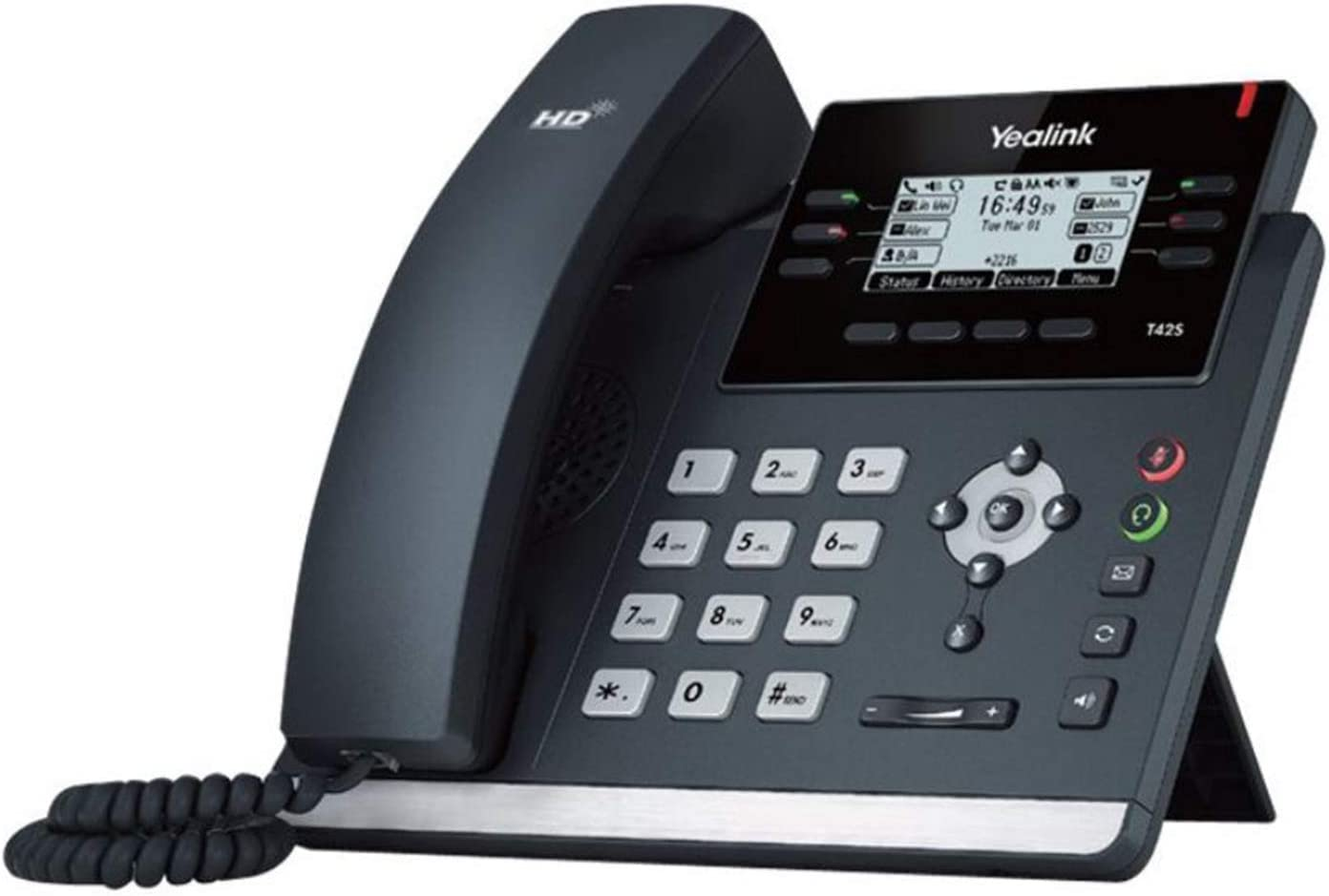 Wall Mountable Cable Bluetooth Yealink T42S-SFB IP Phone