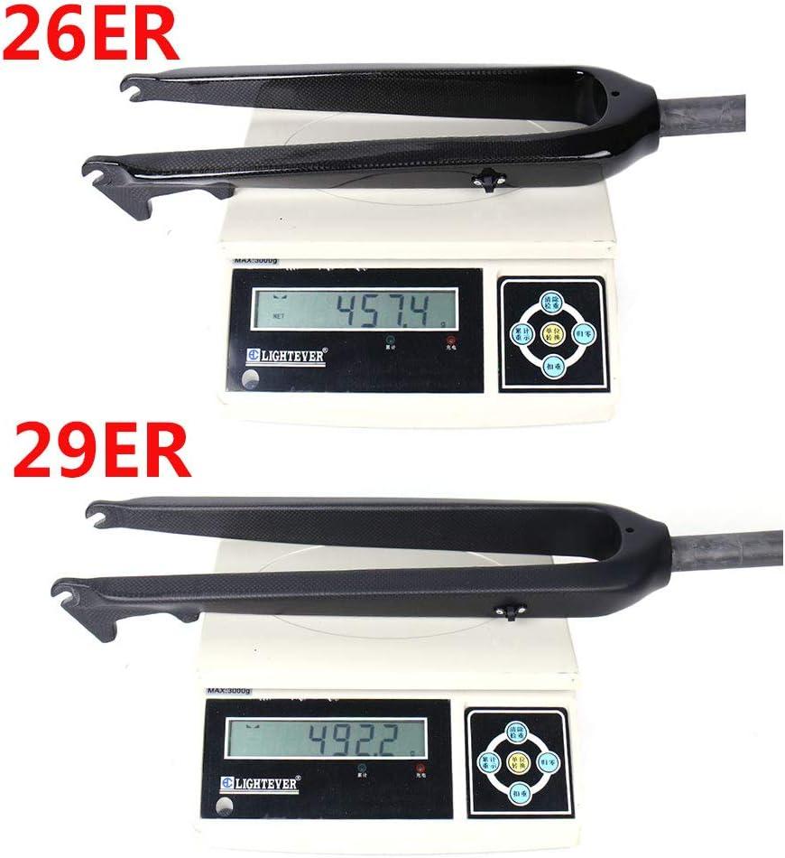 ESEN SP 3K Mate//Brillante Horquilla Delantera de MTB de Fibra de Carbono 26//29 Pulgadas Adecuado para el Disco de 160 mm de Cuadro de 1-1//2a 1-1//8