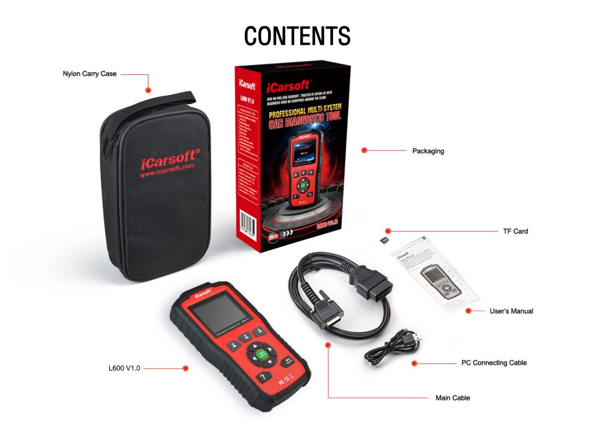 iCarsoft Auto Diagnostic Scanner L600 V1.0 for Landrover and Jaguar with ABS Scan,Oil Reset etc by iCarsoft (Image #9)