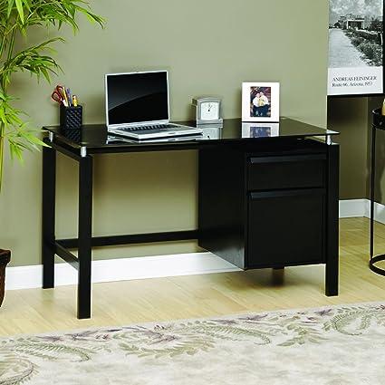 Sauder Lake Point Desk Desks With Glass Tops