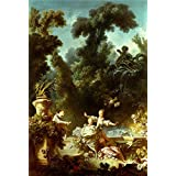 Canvas Prints Of Oil Painting ' Jean-Honore Fragonard - The Progress Of Love - The Pursuit, 1771-72' 16 x 24 inch / 41 x 60 cm , Polyster Canvas Is For Gifts And Bath Room, Gym And Kitchen Decoration