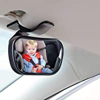 Mini Baby Car Mirror Shatterproof Rear View Baby Mirror 360° Adjustable Rotation for Toddlers Baby Children Safety