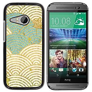 """Pulsar Snap-on Series Teléfono Carcasa Funda Case Caso para HTC ONE MINI 2 / M8 MINI , Ondas del blanco del trullo Autumn Leaves"""""""