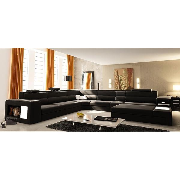 VIG Furniture VGEV5022-BND-BLK Divani Casa Polaris - Contemporary Bonded Leather Sectional
