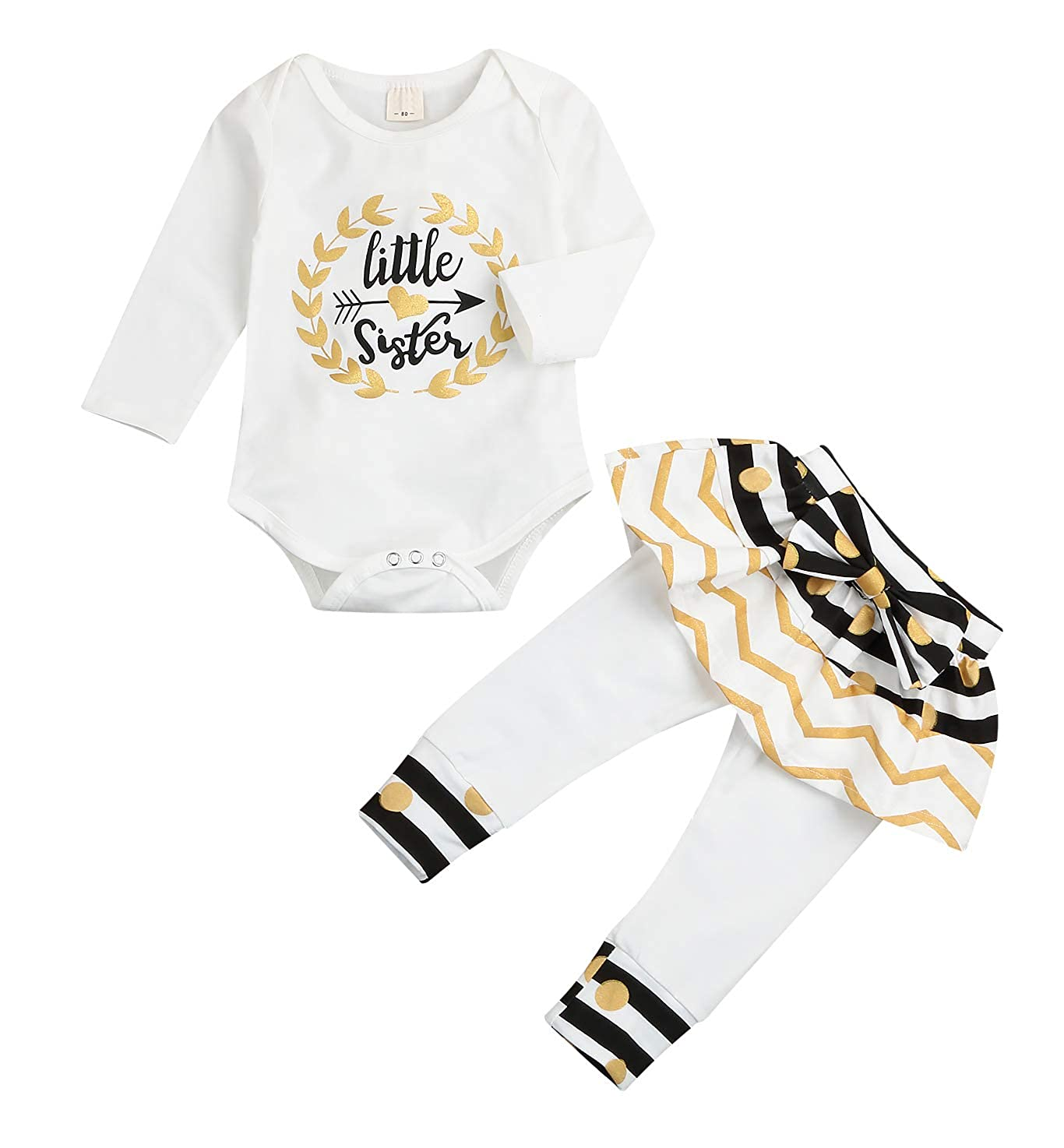 6b460ed37 Online Cheap wholesale Newborn Little Sister Baby Little Girls Skirts  Leggings Pants Gifts Outfits Set Pant Sets Suppliers