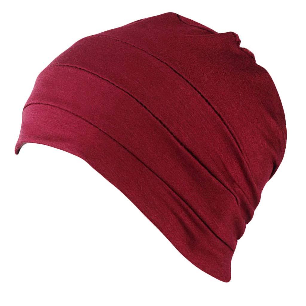 Fxikun Women Cotton Turban Hair Loss Chemo Cap Stretchy Headwrap Sleep Hat Cover