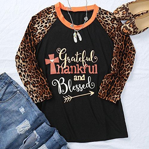 wlgreatsp Femmes Reconnaissant Reconnaissant Imprimé Léopard Blouse T Shirt Chemises de Doublure