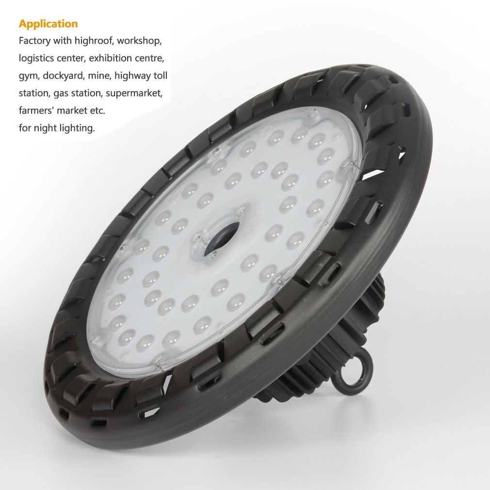 Anten 100W UFO LED High Bay Light Natural-White (4250K) with Mount Bracket, 14000Lm IP65 Waterproof Ultra Efficient, Indoor/ Outdoor Super Bright Commercial Lighting by Anten (Image #6)