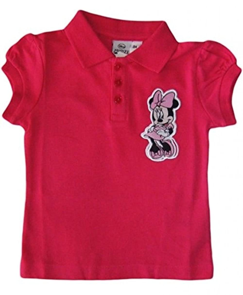 Girls Minnie Mouse Polo T Shirt/tee/top Sun City