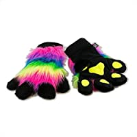 Pawstar Paw Mitts Furry Animal Hand Paws Costume Gloves Adults
