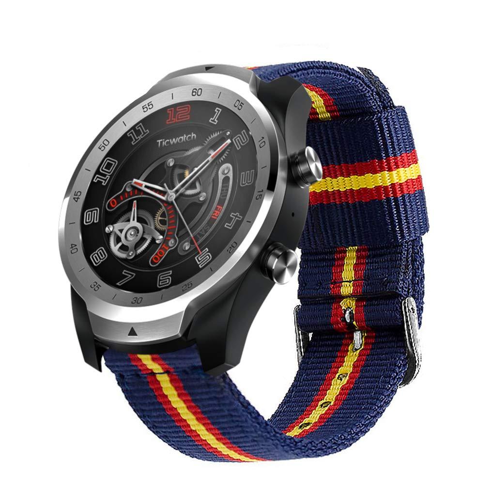 Estuyoya - Pulsera de Nylon Compatible con Ticwatch Pro / S2 / E2 ...
