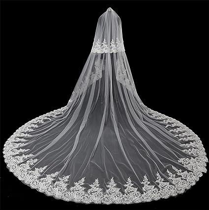 b1ca3b66dbaf Ei iLI velo da sposa di cinque metri di lunghezza velo da sposa di pizzo  fatti a