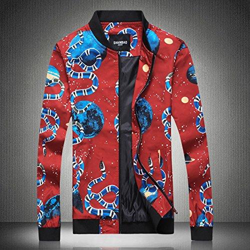 XXXL la de de en código China sello chaquetas del ocio versión hombres rojo gran un coreana viento chaqueta chaqueta casual hombres Los qOZXx414