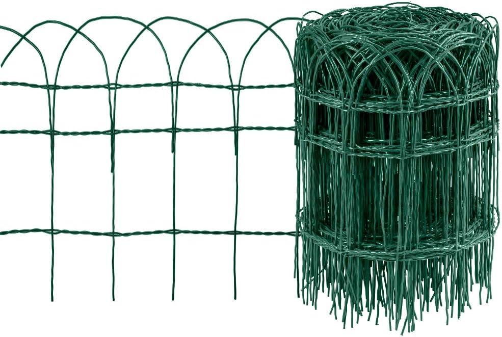 Amagabeli Valla para Jardín 0.4Mx25M Metal Valla Decorativa Hierro para Jardín Metal Bordes para Césped de Jardín lecho de Flores de protección Vegetal HC02