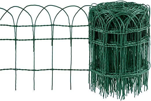 Amagabeli Valla para Jardín 0.4Mx25M Metal Valla Decorativa Hierro para Jardín Metal Bordes para Césped de Jardín lecho de Flores de protección Vegetal HC02: Amazon.es: Jardín