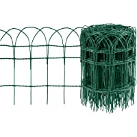 Amagabeli Valla para Jardín 0.4Mx25M Metal Valla Decorativa