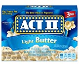 popcorn act 2 - Act II Popcorn, Light Butter, 3 Count (Pack of 12)