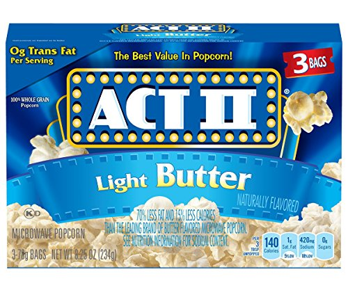Act II Popcorn, Light Butter, 3 Count (Pack of 12) (Flavor Light Butter)