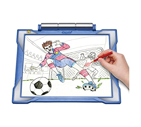 Amazon.com: Crayola Light-Up Tracing Pad Blue, Coloring Board For ...