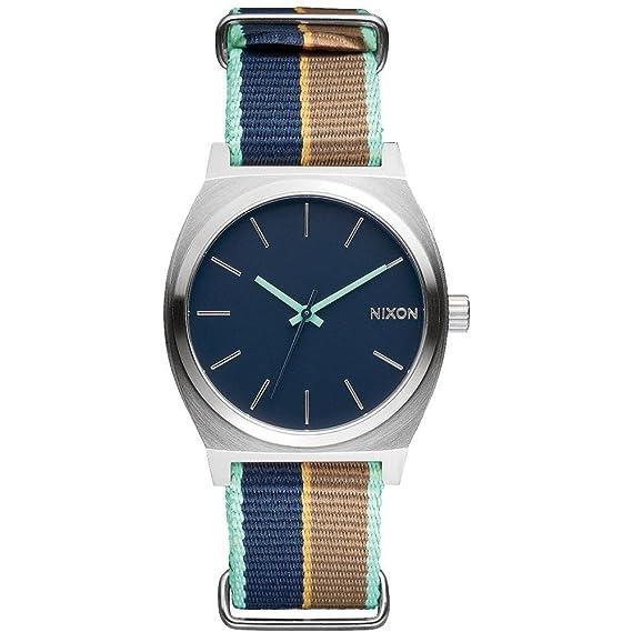NIXON RELOJ DE MUJER CUARZO 32MM CORREA DE TELA CAJA DE ACERO A0452079: Amazon.es: Relojes