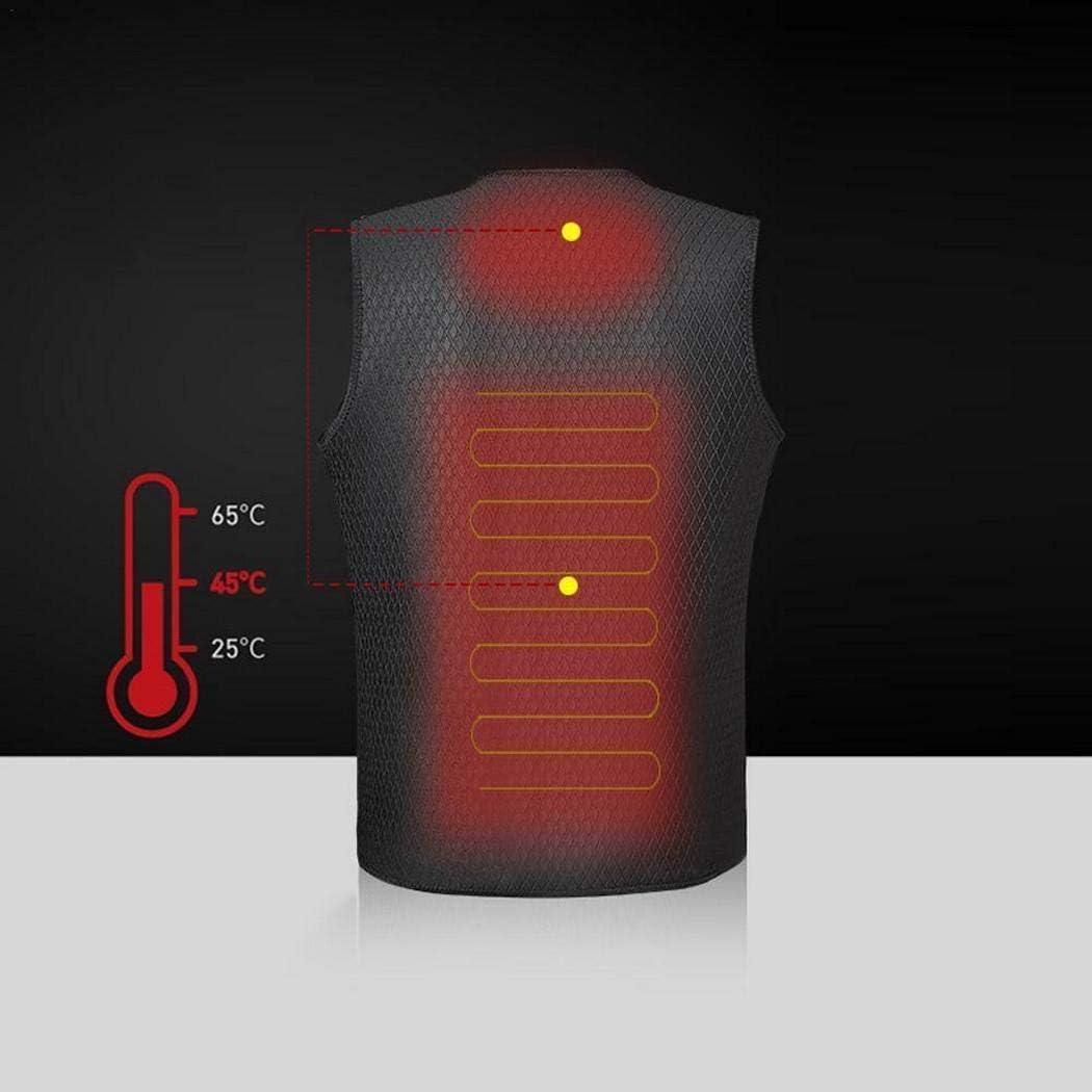 Voiks Chaleco t/érmico el/éctrico 6 tama/ños USB Chaleco t/érmico Inteligente de Temperatura Constante 3 Modos de calefacci/ón Calentador de Cuerpo Ajustable
