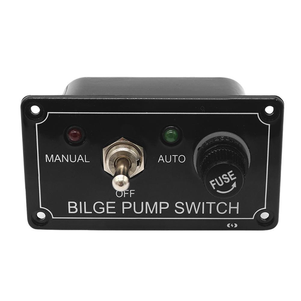 Car Fused Marine Bilge Pump Switch Panel with LED Indicator Light 3 Way DC 12V Childplaymate