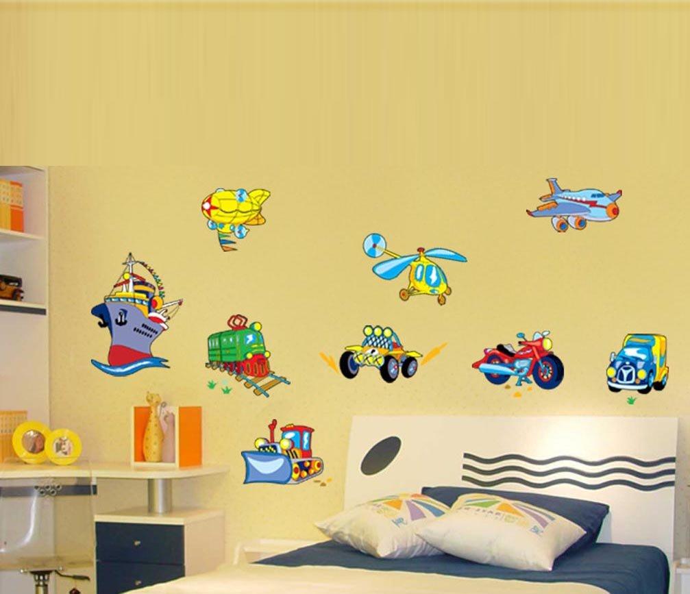 Amazon.com: BIBITIME Nursery Wall Decal Vinyl Vehicle Motorcycle ...