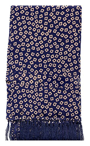 Blue Pattern Silk Scarf (Free Worldwide Shipping)