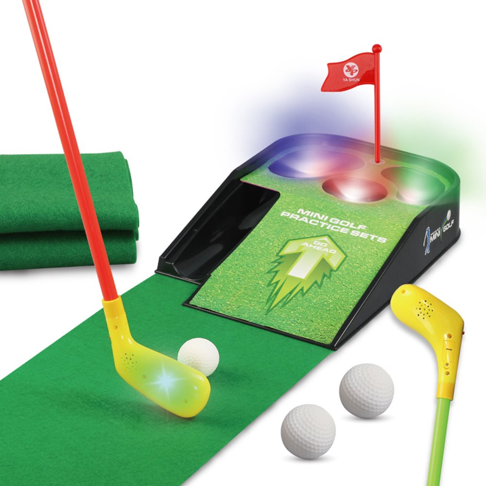 UBOWAY Mini Golf Putting Green Putting Mat Set with Sound Effect for Kids, Toddlers, Golf Beginner by UBOWAY