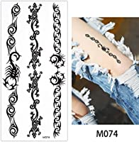 10 hojas Fake negro Animal cadena temporal tatuaje cuerpo arte ...