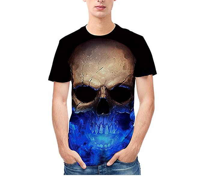 Fashion Men/'s 3D Print Summer Short Sleeve Casual T-Shirt Graphic Tee Tops Shirt