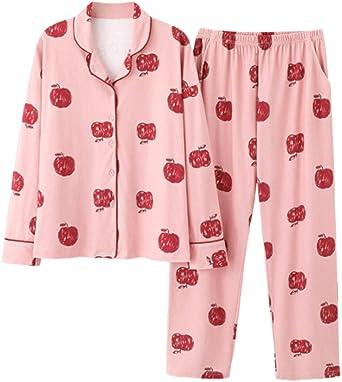 Pijamas para Mujer,Señoras Pijama Algodón Novedad Linda Niña ...