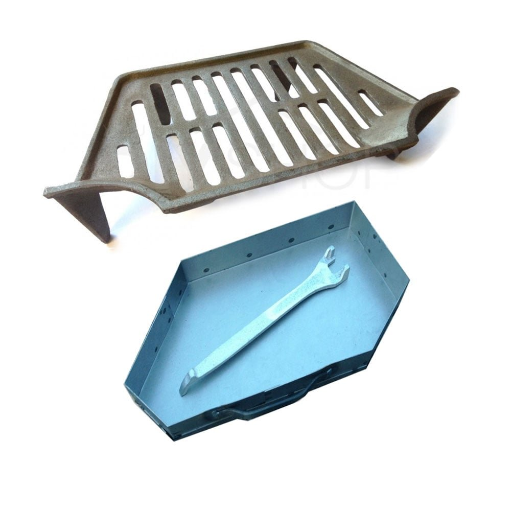 Classic Guardette Fire Grate, Ash Pan and Lifting Tool 18 Fireplace Opening Your Diy Shop